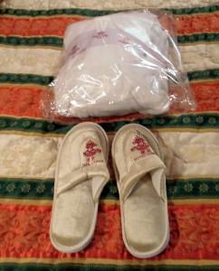 Hotel Lisboa Macau China slippers and robe