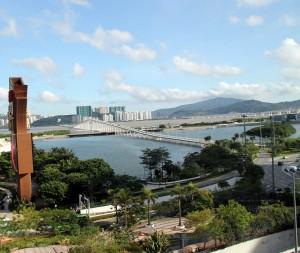 Hotel Lisboa Macau room view of Taipa bridge china