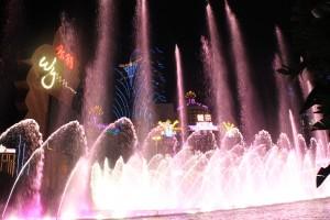 Wynn Macau China fountain show