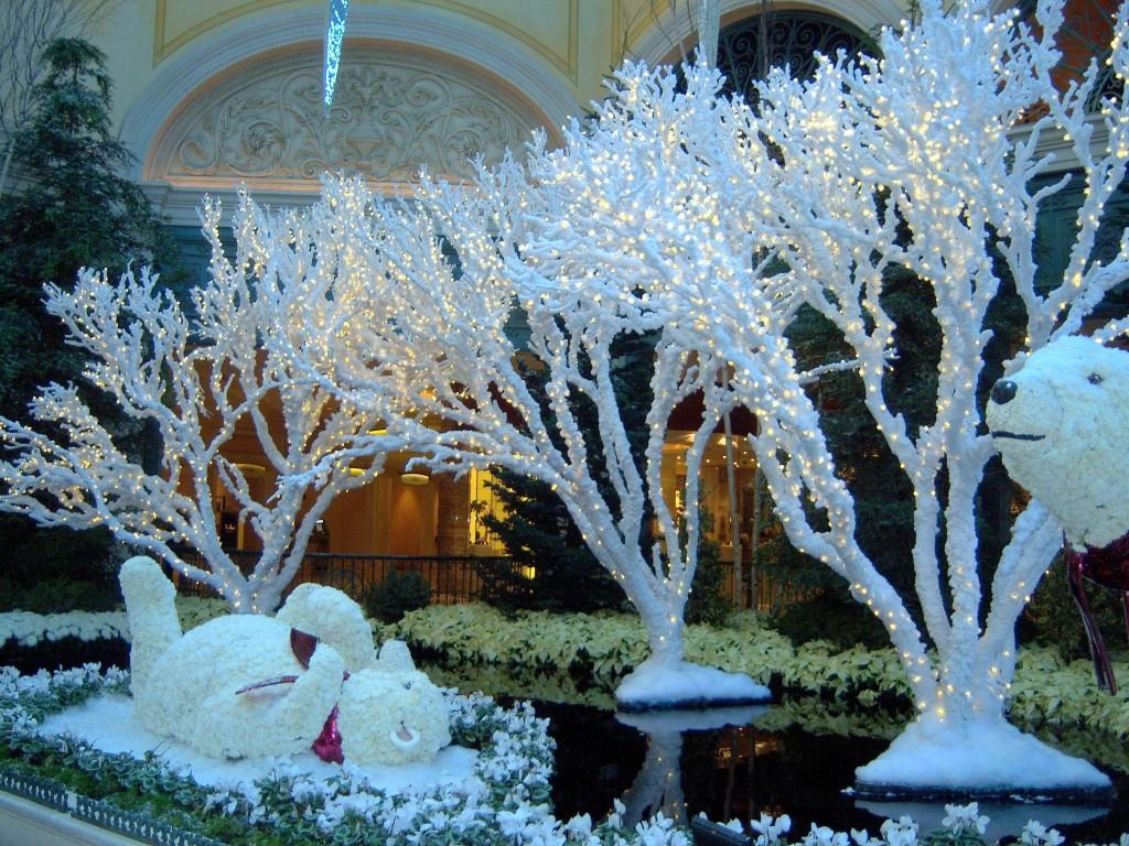 Bellagio Christmas conservatory polar bears  Las Vegas Nevada