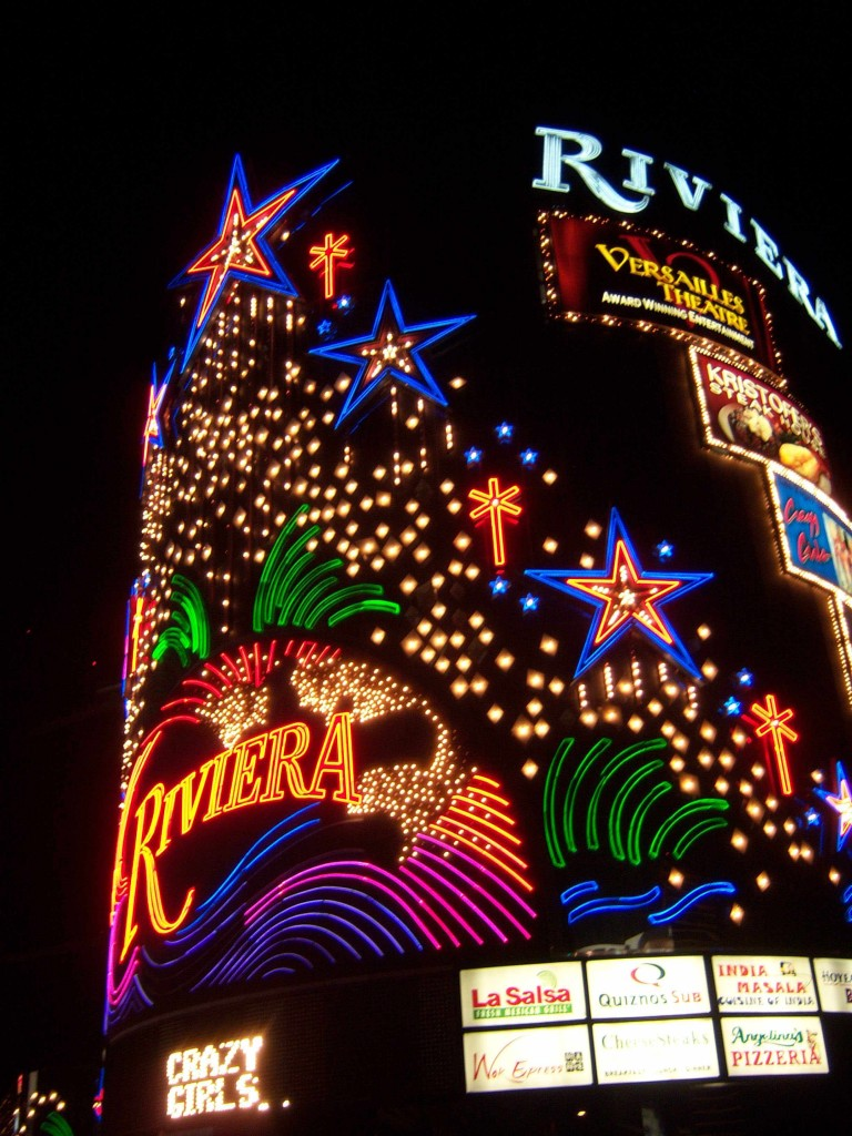 Riviera Las Vegas night neon
