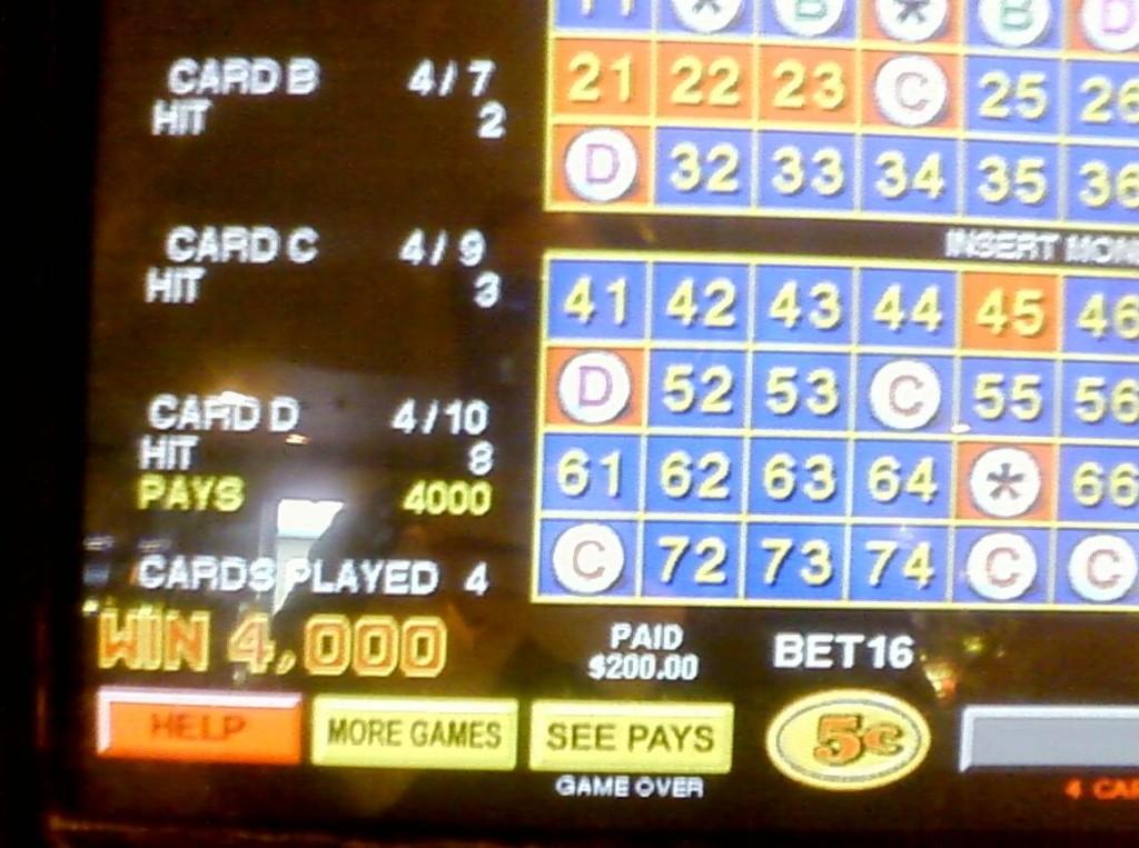 Vegas vacation keno winner