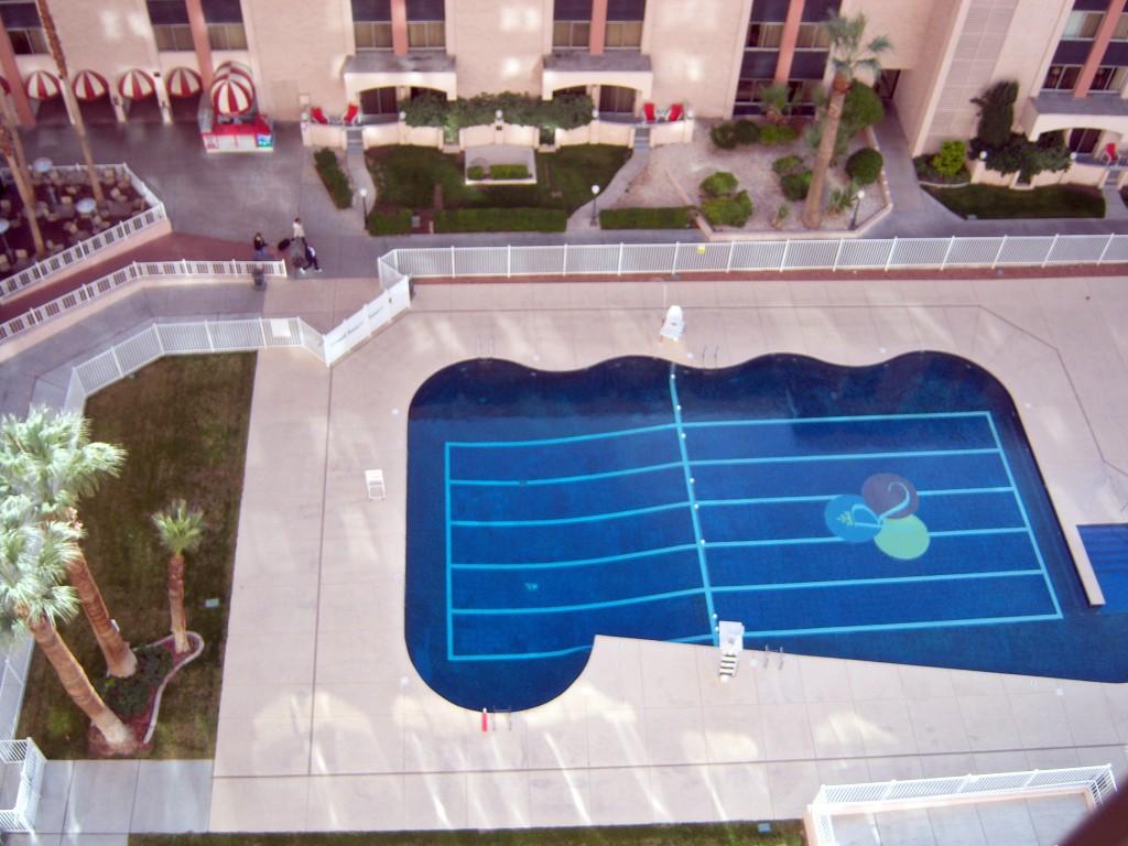 pool view Riviera Las Vegas