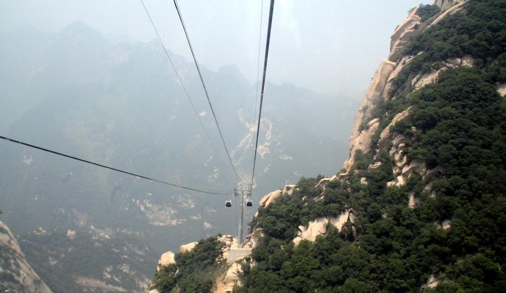 Mount Huashan cable car ride