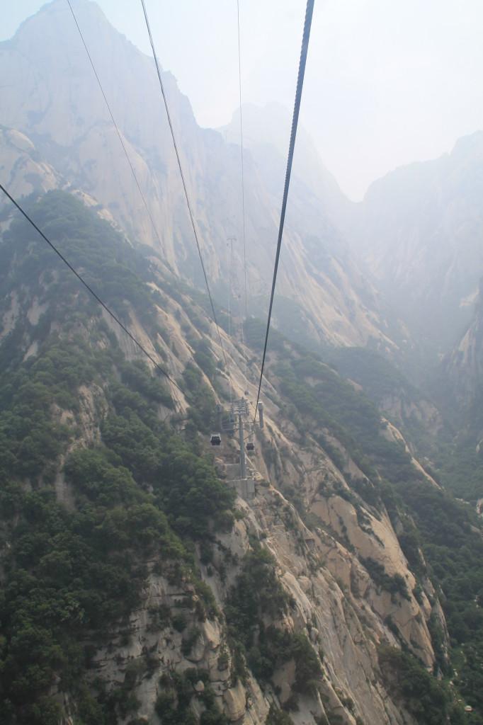 huashan cable car ride