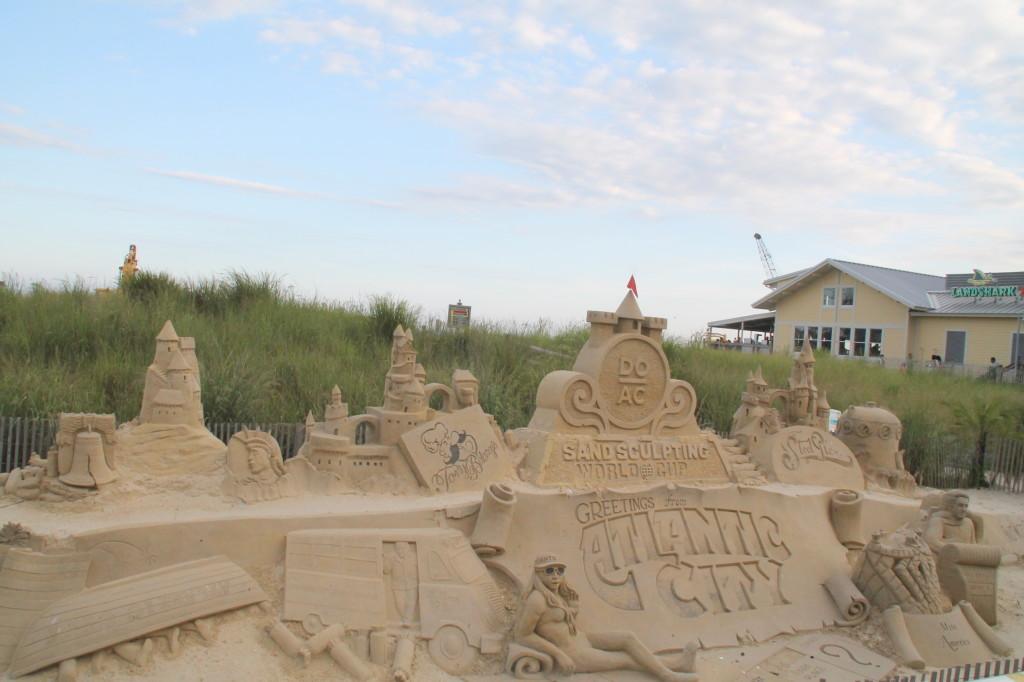Atlantic City sand sculpting