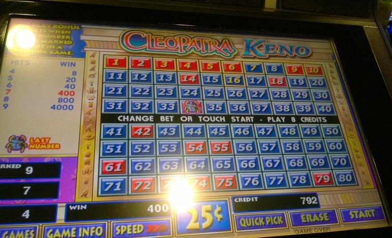 Cleopatra keno slot machine james bond casino royale stream
